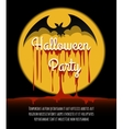 Happy Halloween Poster with Bat vector image vector image