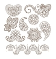 Indian Floral Ornaments Mandala Henna vector image