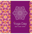 Indian Yoga poster concept Lotus flower symbol vector image vector image