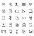 library line icons on white background vector image vector image