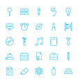 Line School and Science Icons Set vector image vector image