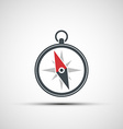logo compass arrow vector image vector image