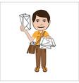 mailman vector image vector image