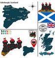 map edinburgh scotland vector image