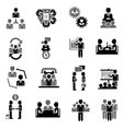Meeting Icon Black vector image vector image