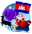 Merry Christmas Cambodia vector image vector image