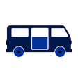 Minibus symbol icon on white vector image vector image
