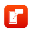 mobile chatting icon digital red vector image vector image