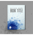 modern abstractbook cover template vector image vector image