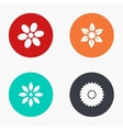 modern flower colorful icons set vector image vector image