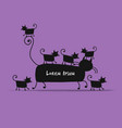 mother cat with kittens sketch for your design vector image