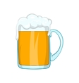 Mug of beer icon in cartoon style vector image vector image