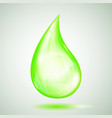 one big green drop vector image vector image