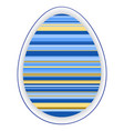 paper card template with color striped easter egg vector image vector image