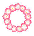 pink morning glory flower wreath vector image vector image