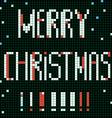 pixel merry christmas vector image vector image