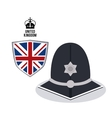 police hat icon United kingdom design vector image vector image