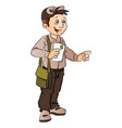 postman or mailman vector image