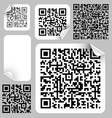 qr or quick response code vector image vector image