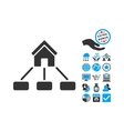 Realty Links Flat Icon With Bonus vector image vector image