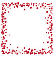 red hearts frame with place for text isolated vector image vector image