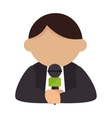 reporter man live vector image