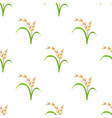 rice plant vegetarian food seamless pattern vector image vector image