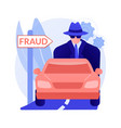 road fraud abstract concept vector image vector image