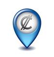 salvadoran colon symbol on mapping marker vector image vector image
