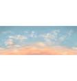 seamless realistic sunset sky long length vector image