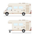 set of retro camper trailer collection vector image