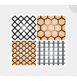set of seamless lace patterns vector image vector image