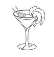 shrimp cocktail coloring vector image