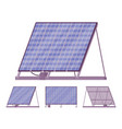 solar cells panel kit with battery charger vector image