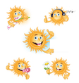 sun is smiling vector image vector image