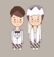 sunda west java province wedding couple cute vector image