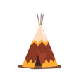teepee or wigwam dwelling of north nations of vector image vector image