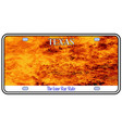 texas license plate flames vector image vector image