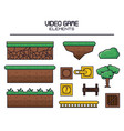 videogame elements icons vector image vector image