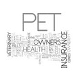 Which health plans offer pet health insurance vector image