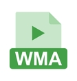 WMA File vector image vector image