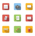 Work icons set flat style vector image vector image