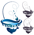 Fishing rod and fish vector image