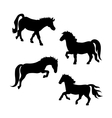 Pony silhouettes vector image