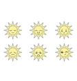 icon sun with expressions vector image