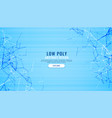 abstract blue low poly lines digital background vector image