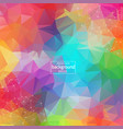 abstract colorful polygonal space background with vector image vector image