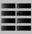 abstract diagonal square mosaic pattern banner vector image vector image