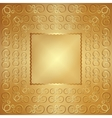abstract wide metal gold frame with ornament vector image vector image