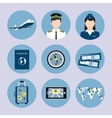 Airline Icons Set vector image vector image
